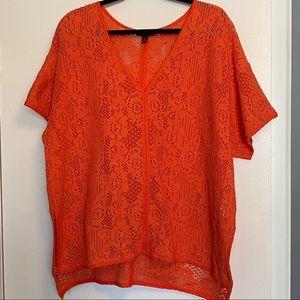 Banana Republic | Coral Crochet Top | Size XL